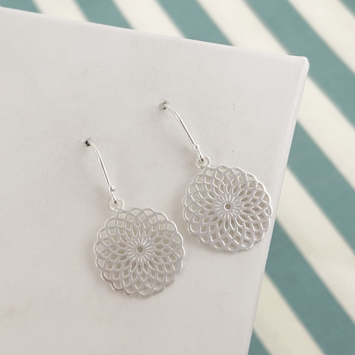 Patterned Dangle Earrings